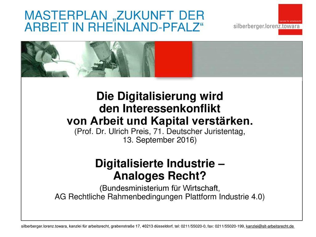 Digitalisierte Industrie – Analoges Recht