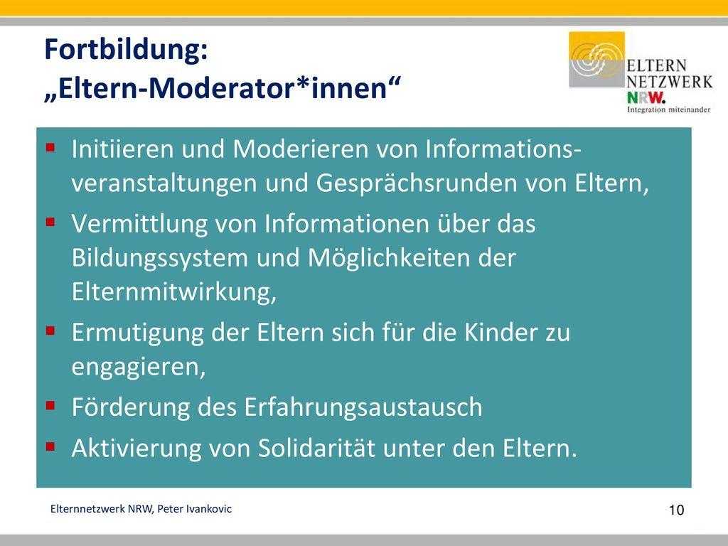 "Fortbildung: ""Eltern-Moderator*innen"