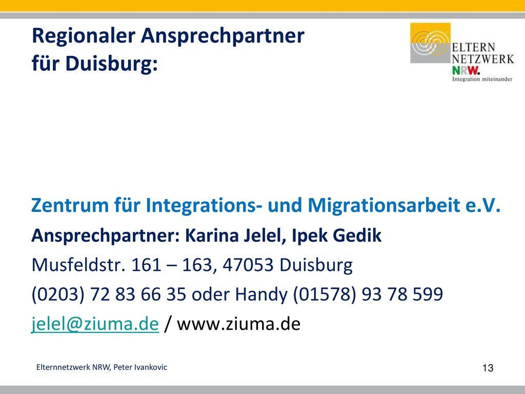 Regionaler Ansprechpartner für Duisburg: