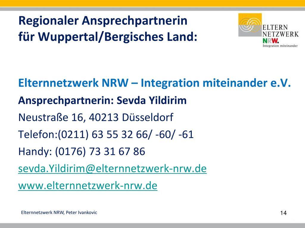Regionaler Ansprechpartnerin für Wuppertal/Bergisches Land: