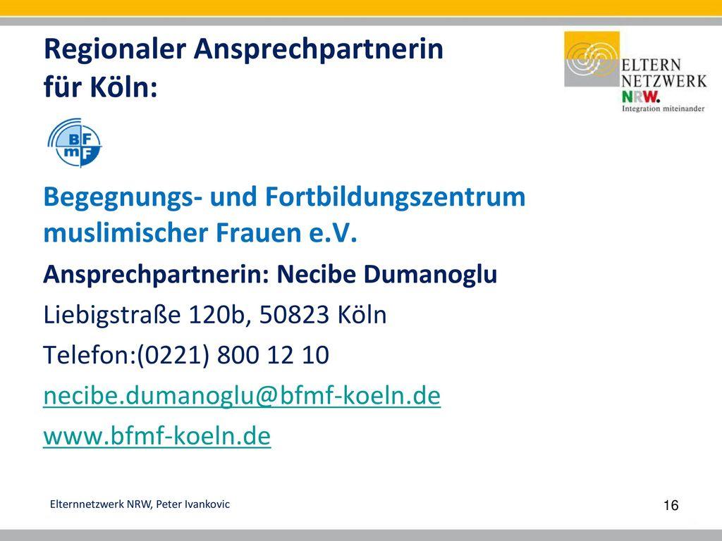 Regionaler Ansprechpartnerin für Köln: