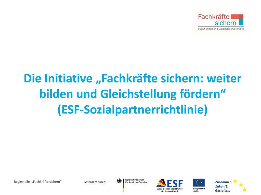 (ESF-Sozialpartnerrichtlinie)