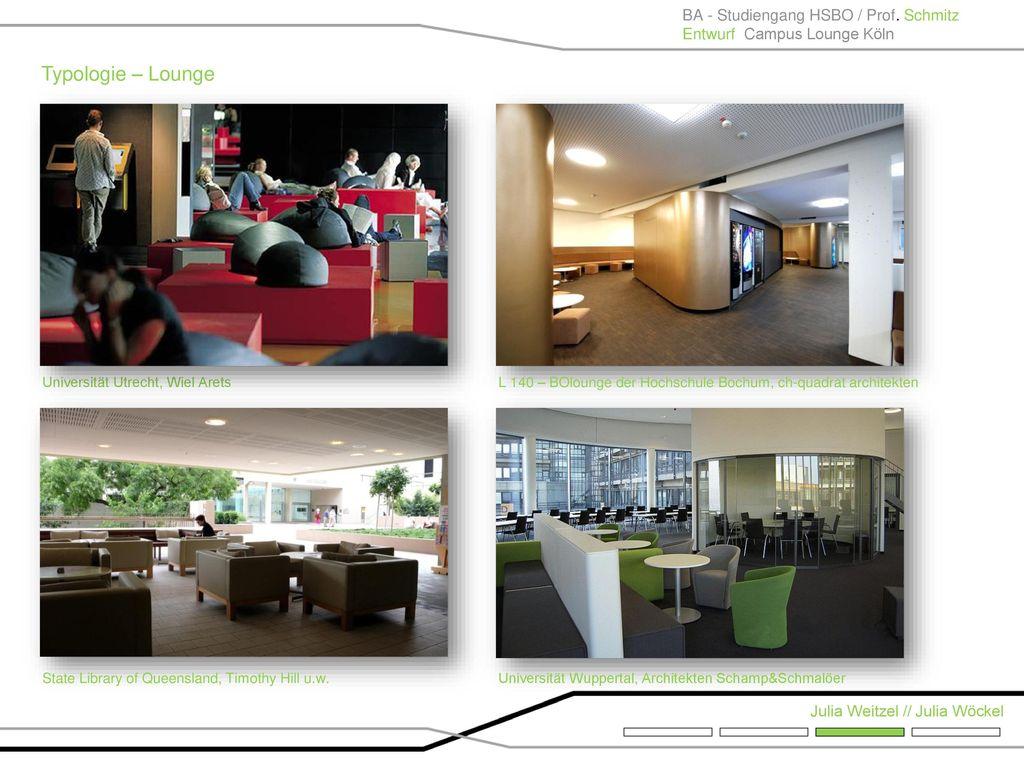 Typologie – Lounge BA - Studiengang HSBO / Prof. Schmitz