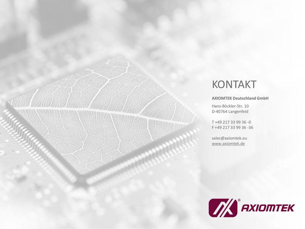 KONTAKT AXIOMTEK Deutschland GmbH