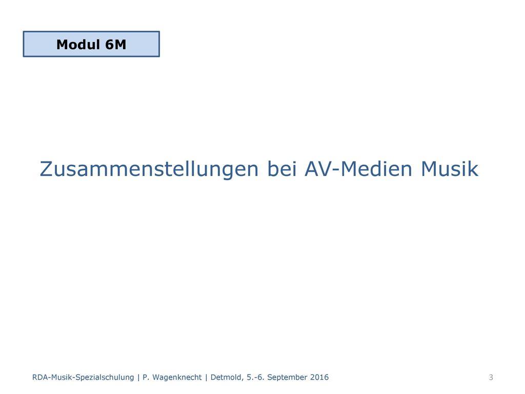 Zusammenstellungen bei AV-Medien Musik