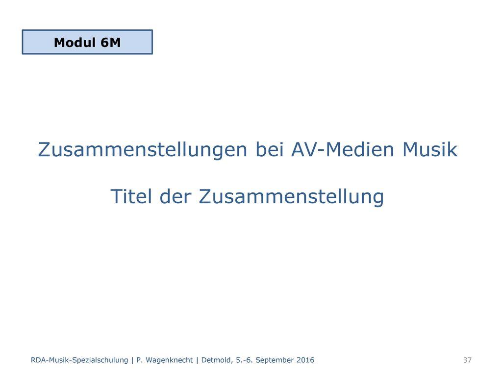 Zusammenstellungen bei AV-Medien Musik Titel der Zusammenstellung