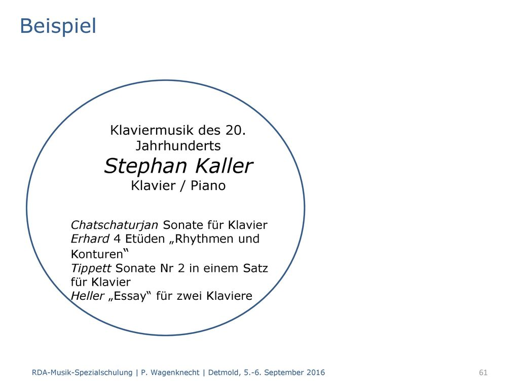 RDA-Musik-Spezialschulung - ppt herunterladen