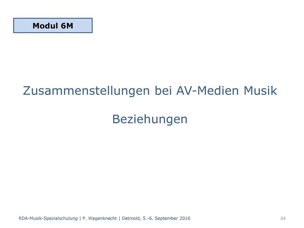Zusammenstellungen bei AV-Medien Musik Beziehungen