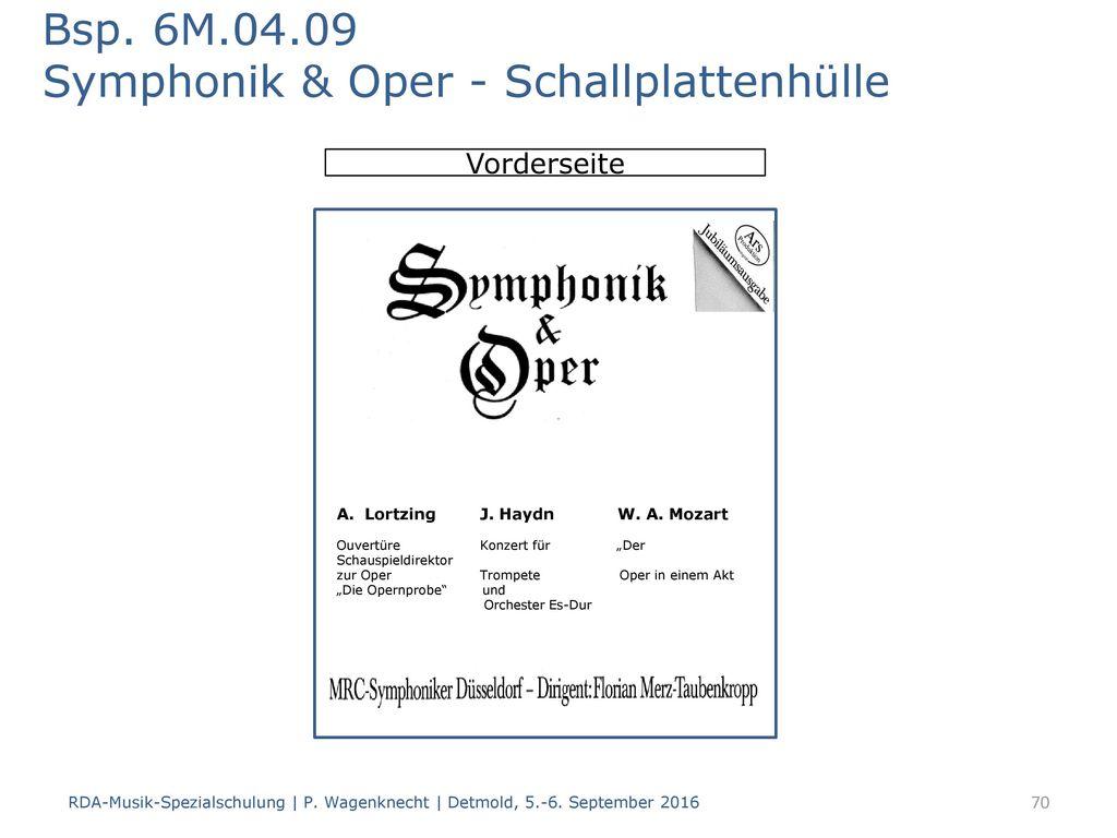 Bsp. 6M.04.09 Symphonik & Oper - Schallplattenhülle