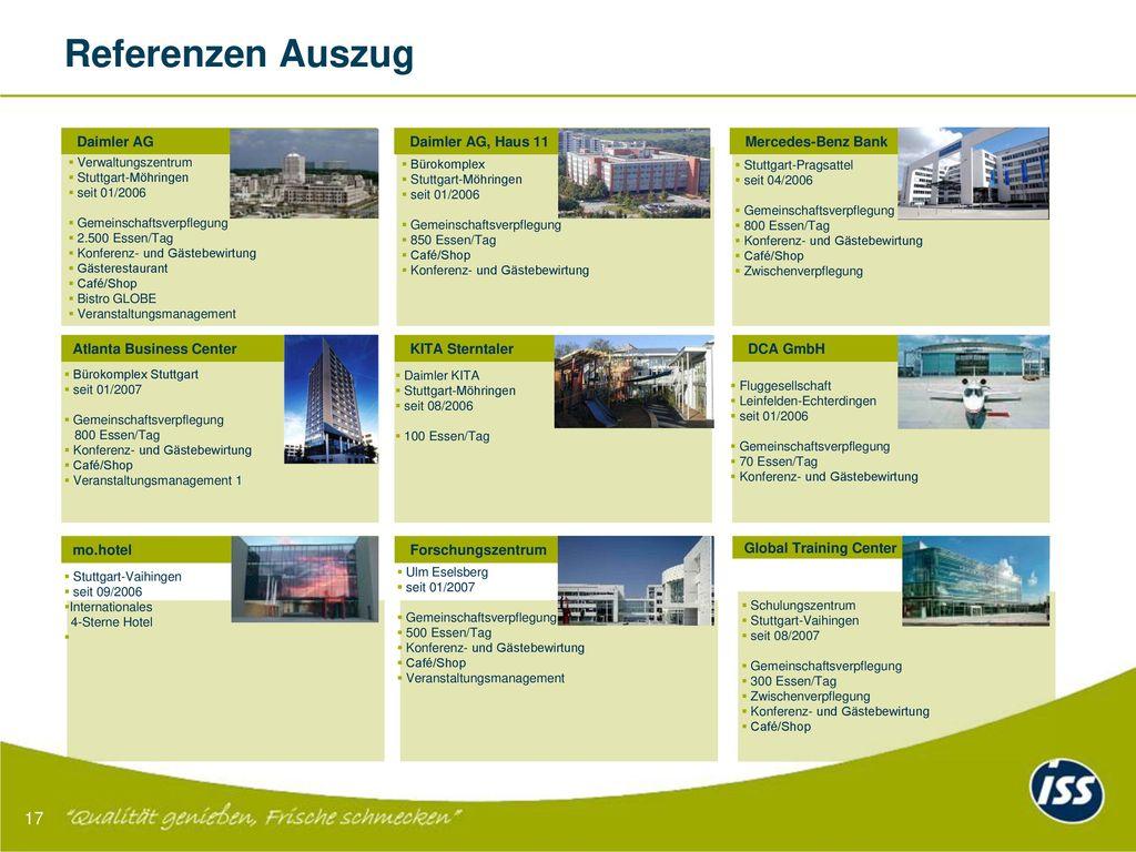 Referenzen Auszug 17 Daimler AG Daimler AG, Haus 11 Mercedes-Benz Bank