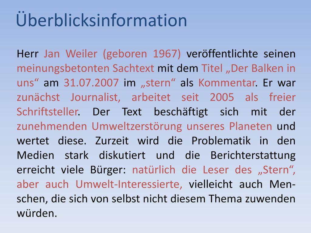 Überblicksinformation