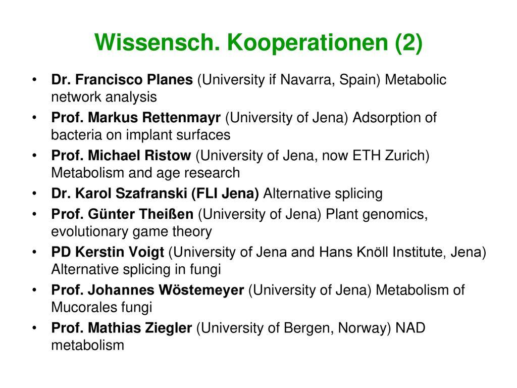 Wissensch. Kooperationen (2)