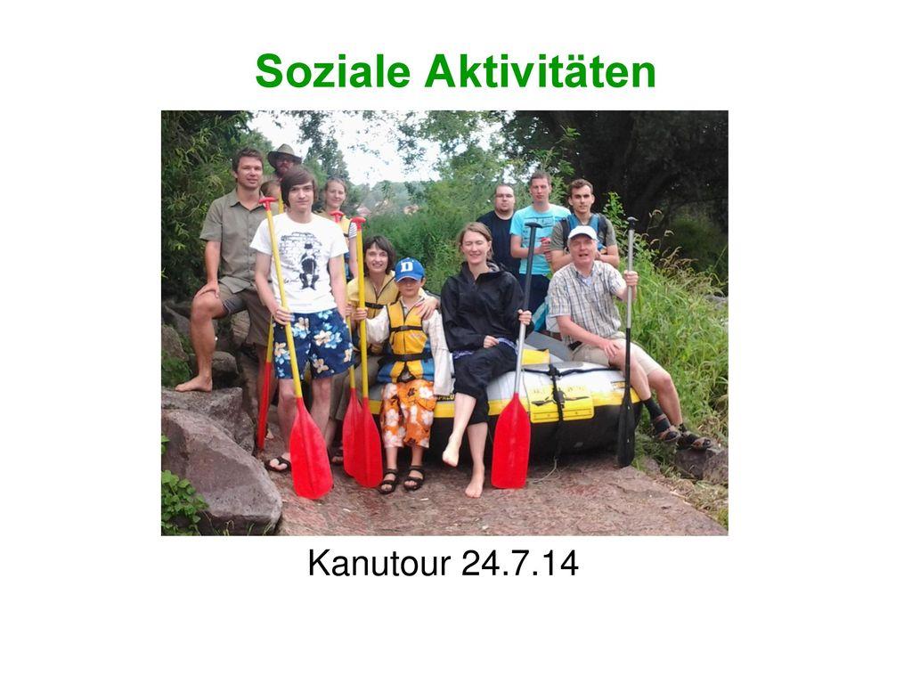 Soziale Aktivitäten Kanutour 24.7.14