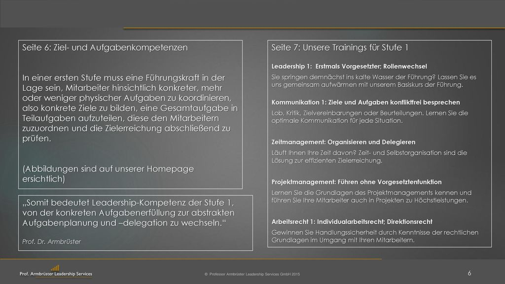 Seite 6: Ziel- und Aufgabenkompetenzen