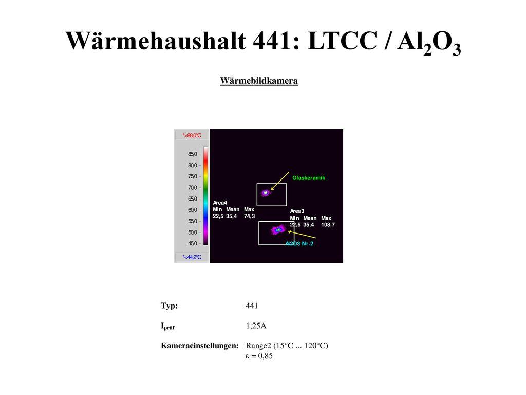 Wärmehaushalt 441: LTCC / Al2O3