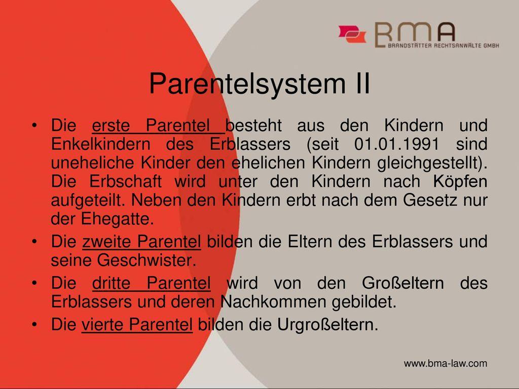 Parentelsystem II