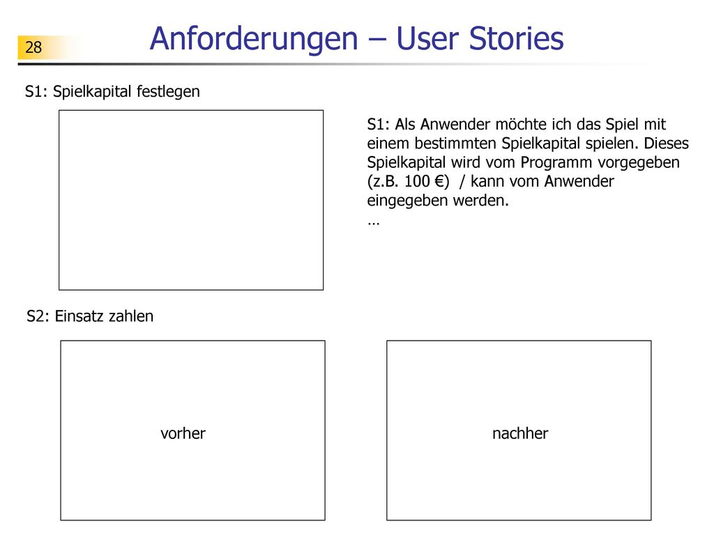 Anforderungen – User Stories