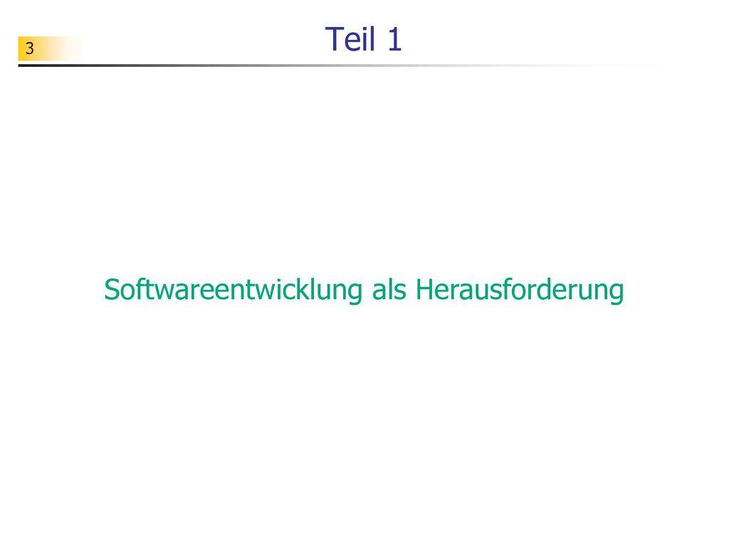 Softwareentwicklung als Herausforderung