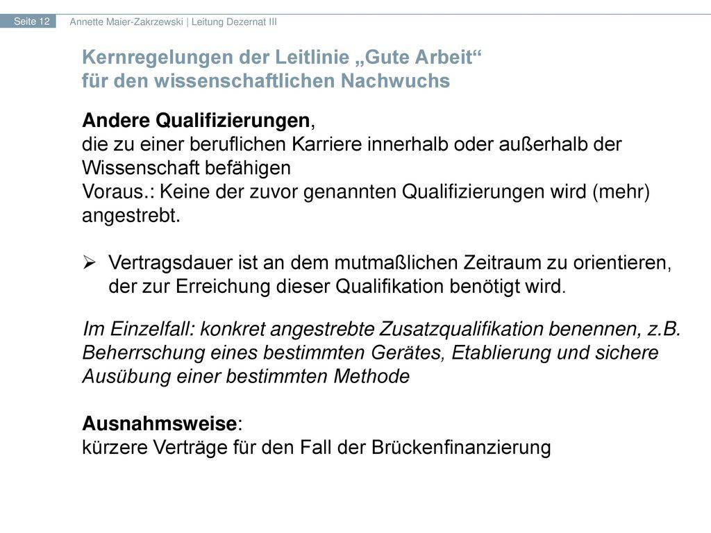 Andere Qualifizierungen,