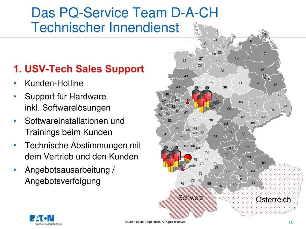 Das PQ-Service Team D-A-CH Technischer Innendienst