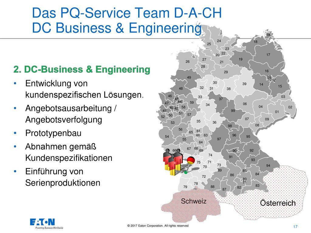 Das PQ-Service Team D-A-CH DC Business & Engineering