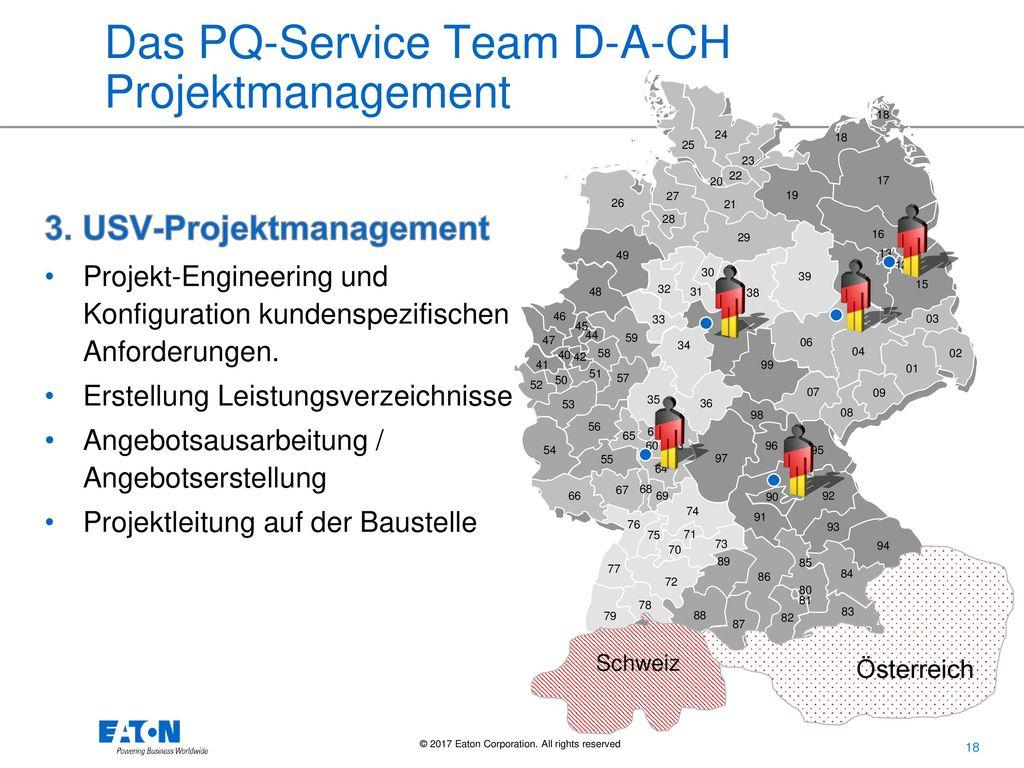 Das PQ-Service Team D-A-CH Projektmanagement