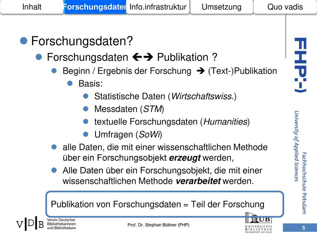 Forschungsdaten Forschungsdaten  Publikation