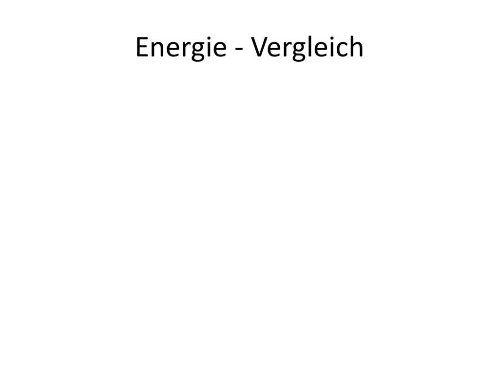 Energie - Vergleich Öffne die Datei Energieverbrauch.xlsx und kopiere das Diagramm als Verknüpfung (ist Standardeinstellung) in die Folie.