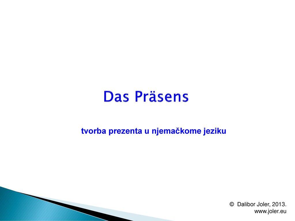 tvorba prezenta u njemačkome jeziku