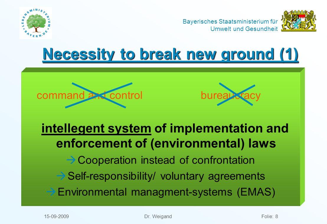 Necessity to break new ground (1)