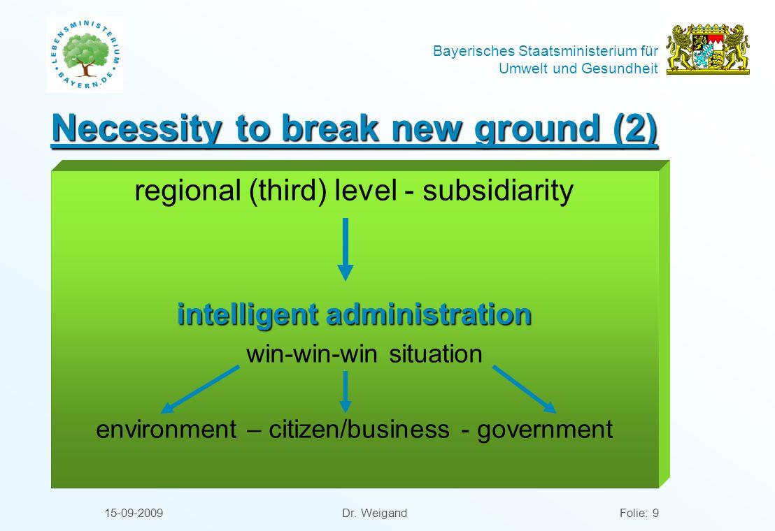 Necessity to break new ground (2)