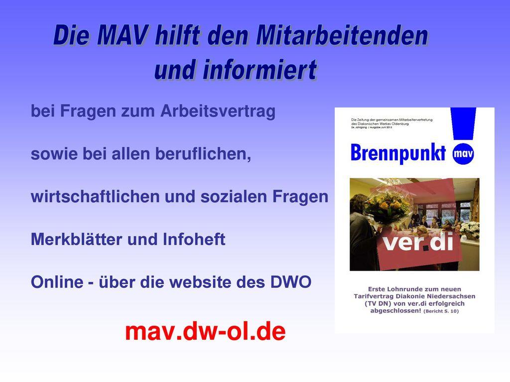 Die MAV hilft den Mitarbeitenden