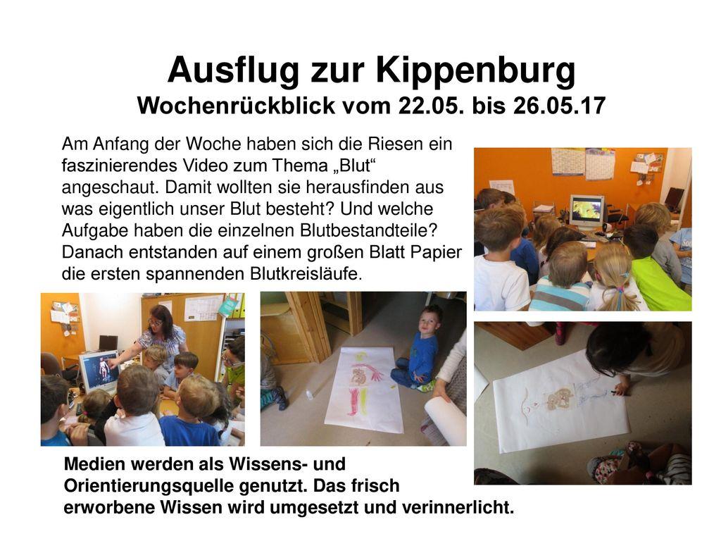 Ausflug zur Kippenburg Wochenrückblick vom 22.05. bis 26.05.17