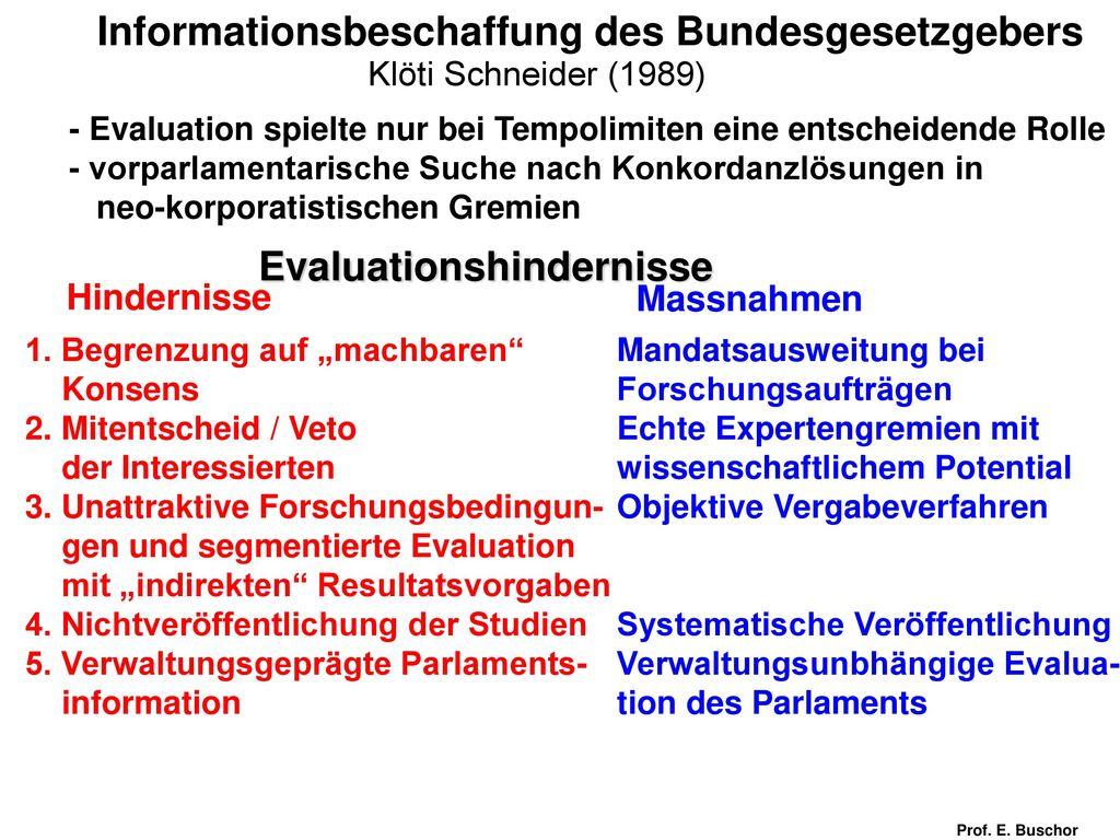 Informationsbeschaffung des Bundesgesetzgebers