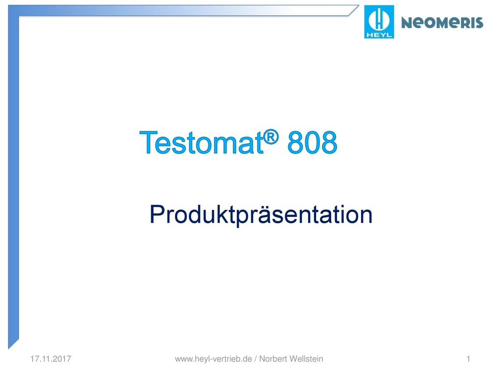 Testomat® 808 Produktpräsentation