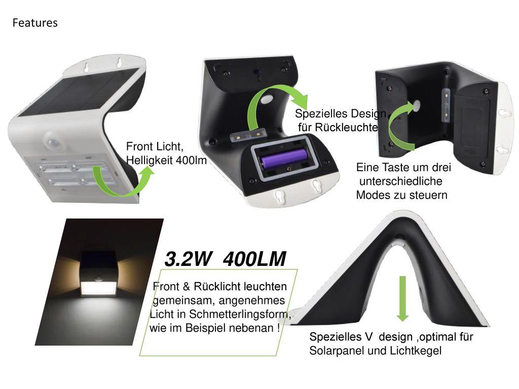 3.2W 400LM Features Spezielles Design für Rückleuchte Front Licht,