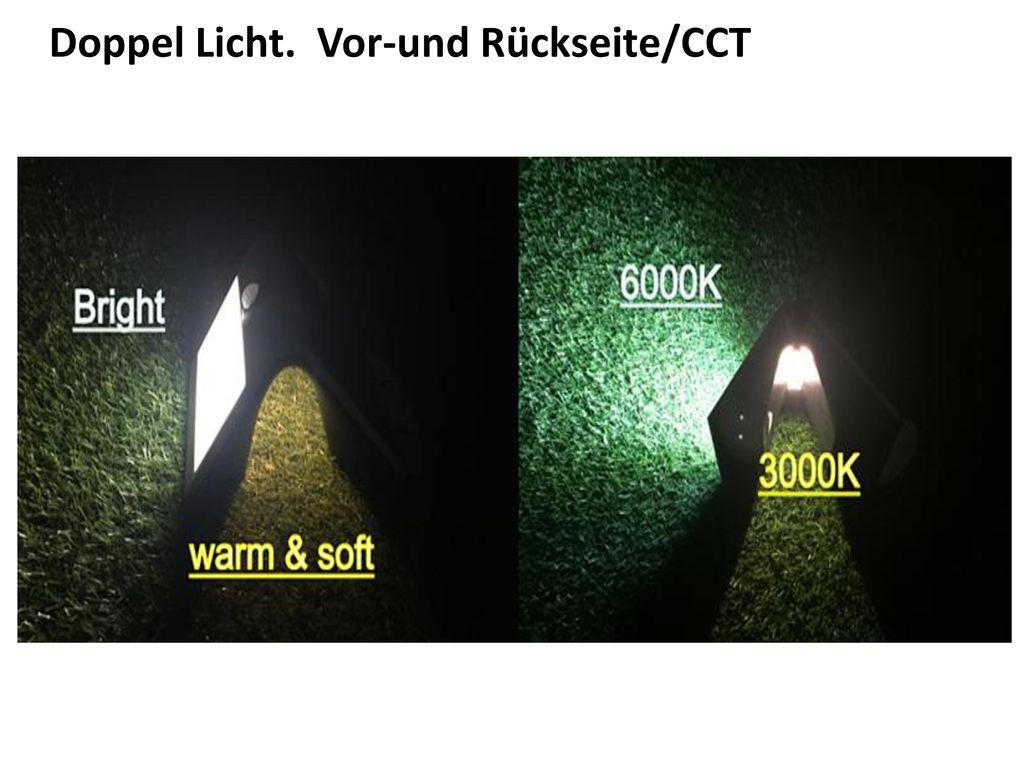 Doppel Licht. Vor-und Rückseite/CCT