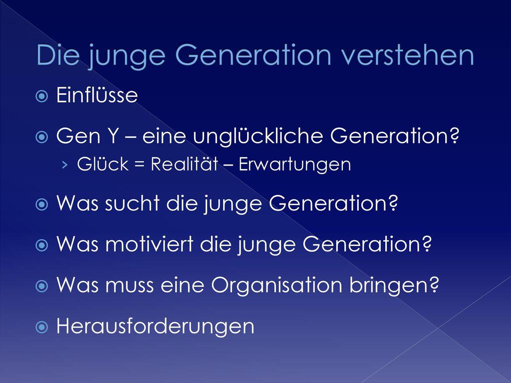 Die junge Generation verstehen