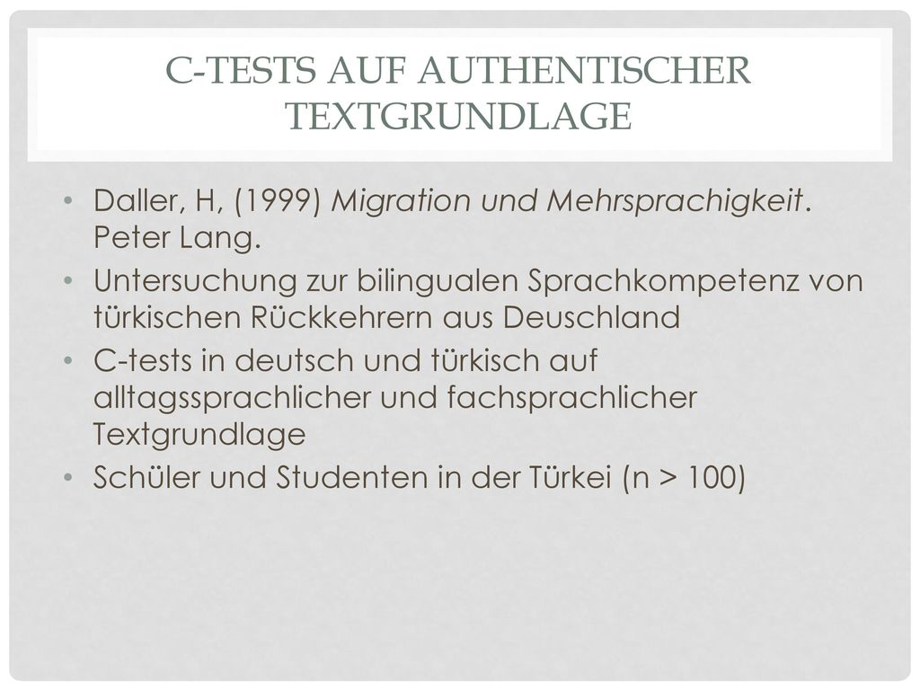 C-tests auf authentischer Textgrundlage