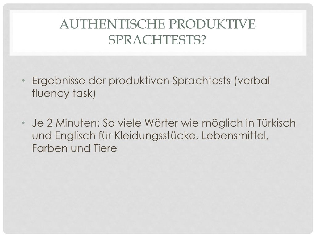 Authentische produktive Sprachtests