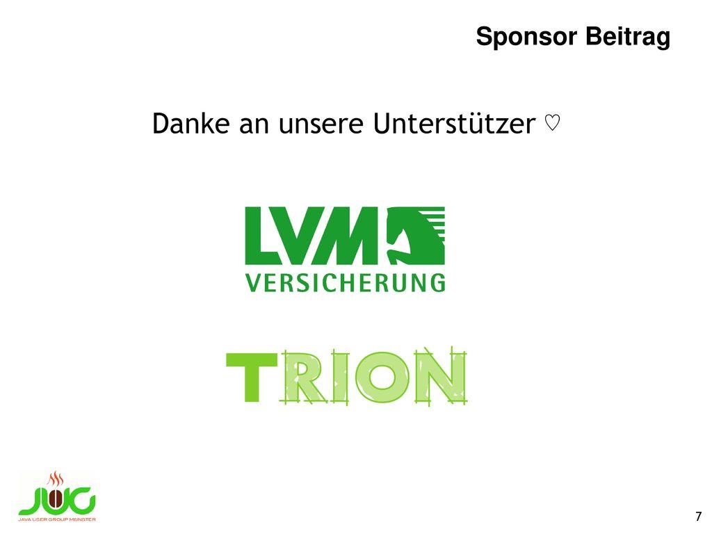 Macht mit! Feedback. Thomas (@everflux) oder Gerrit (@hansolo_) ansprechen/twittern/emailen. E-Mail: info@jug-muenster.de.