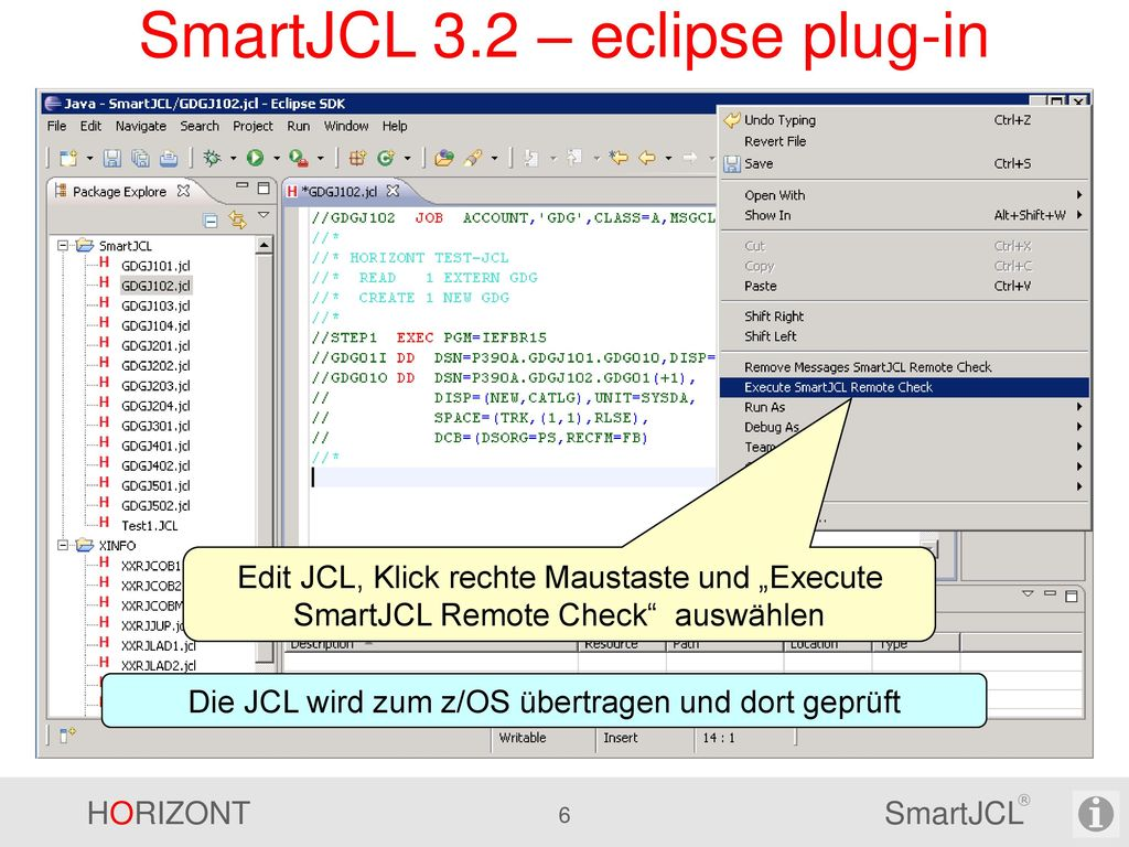 SmartJCL 3.2 – eclipse plug-in