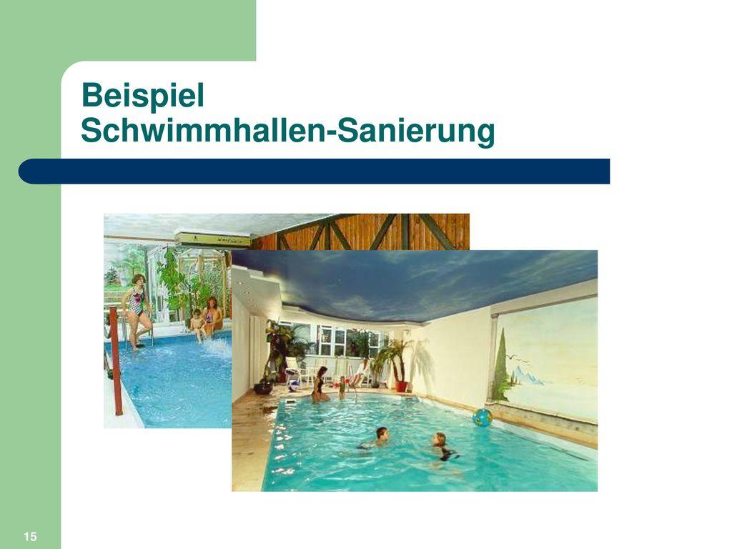 Beispiel Schwimmhallen-Sanierung