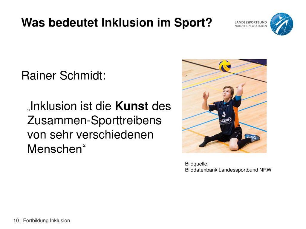 Was bedeutet Inklusion im Sport