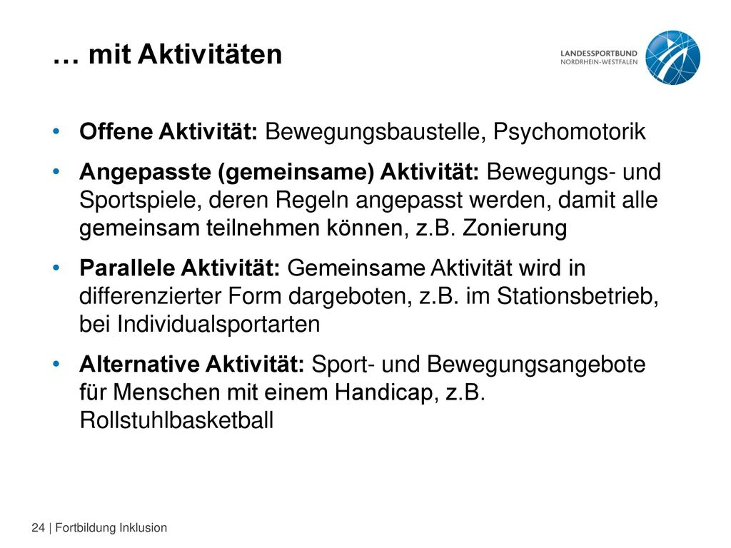 … mit Aktivitäten Offene Aktivität: Bewegungsbaustelle, Psychomotorik
