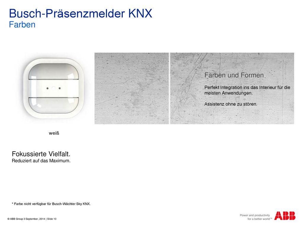 Busch-Präsenzmelder KNX Farben