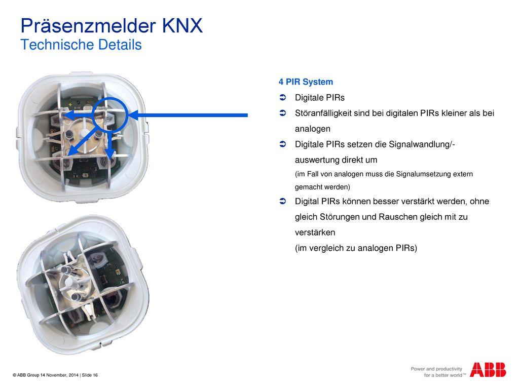 Präsenzmelder KNX Technische Details