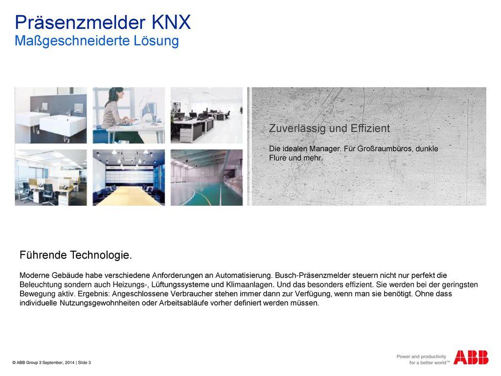 Präsenzmelder KNX Maßgeschneiderte Lösung