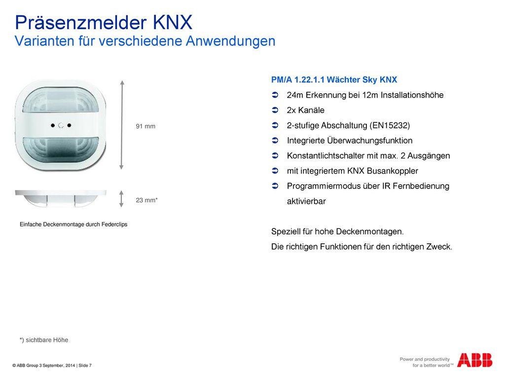 Präsenzmelder KNX Varianten für verschiedene Anwendungen