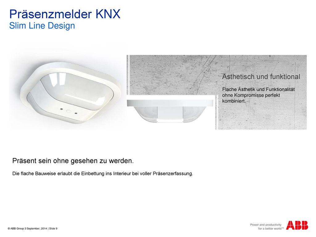 Präsenzmelder KNX Slim Line Design